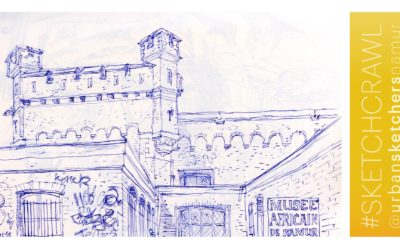 Ce dimanche 15 avril urban sketching à Namur !