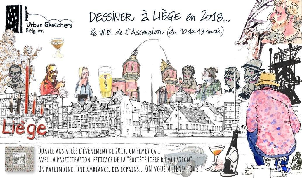 Dessiner Liège Luik tekenen 2018