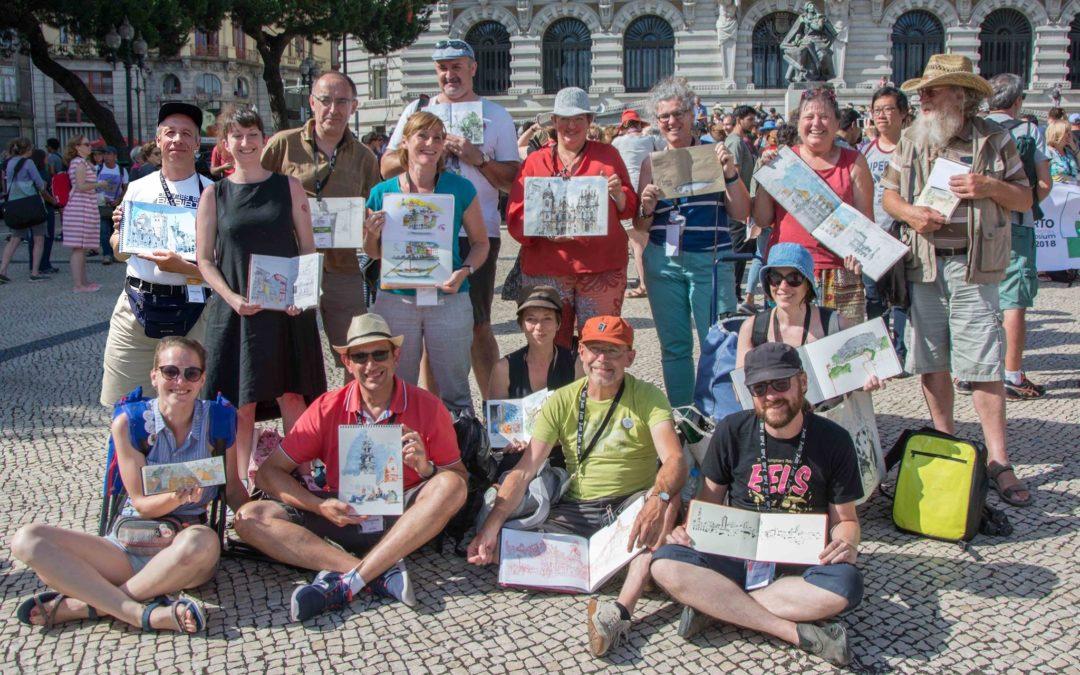 Urbansketching symposium : Belgians in Porto