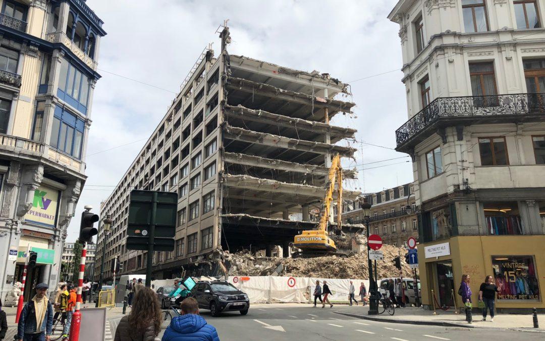 Demolition sketching in Brussels