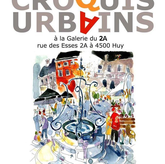"Expo et sketchcrawl ""Croquis Urbains"" – Tentoonstelling en sketchcrawl à/in Huy!"